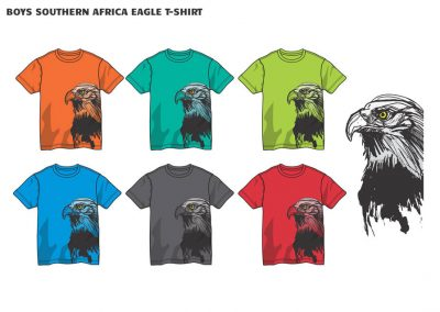 boys southern african eagle t-shirt