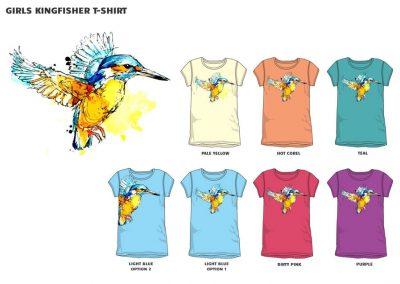 girls kingfisher t-shirt